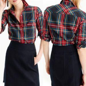 J.Crew Slim Perfect Shirt Stewart Tartan Plaid 4